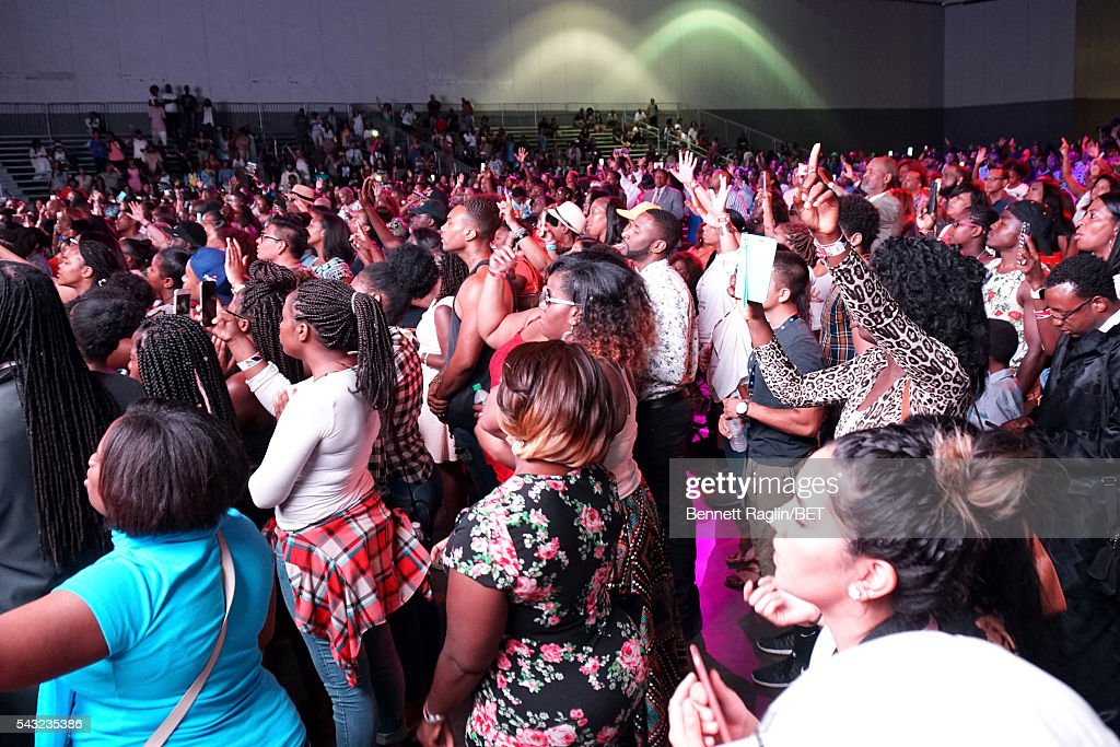 Gospel fans attend the BETX stage during the 2016 BET Experience on June 26, 2016 in Los Angeles, California.