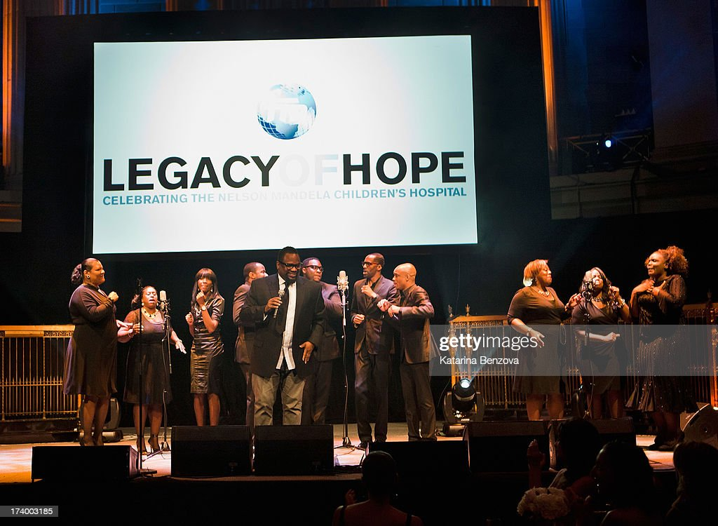 Gospel Music artist Hezekiah Walker and Love Fellowship Choir perform during The Nelson Mandela Legacy Of Hope Foundation Event at Gotham Hall on July 18, 2013 in New York City.