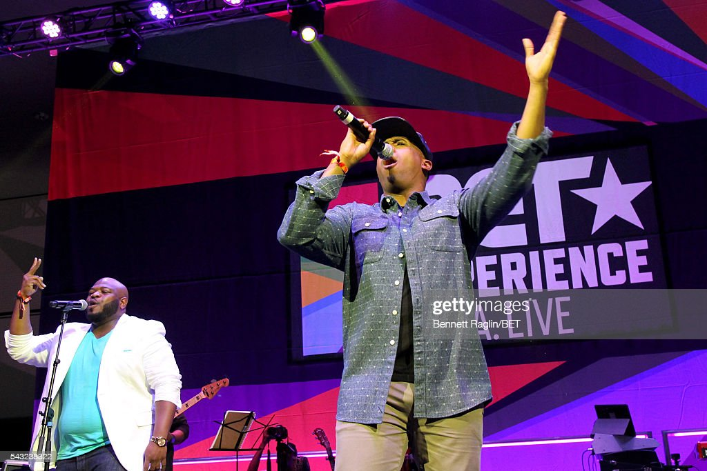 Gospel singer Anthony Brown performs on the BETX stage during the 2016 BET Experience on June 26, 2016 in Los Angeles, California.
