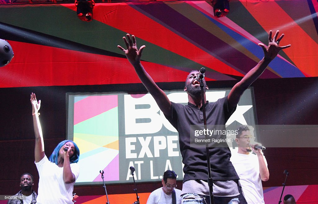 Gospel singer <a gi-track='captionPersonalityLinkClicked' href=/galleries/search?phrase=Tye+Tribbett&family=editorial&specificpeople=2330862 ng-click='$event.stopPropagation()'>Tye Tribbett</a> performs on the BETX stage during the 2016 BET Experience on June 26, 2016 in Los Angeles, California.