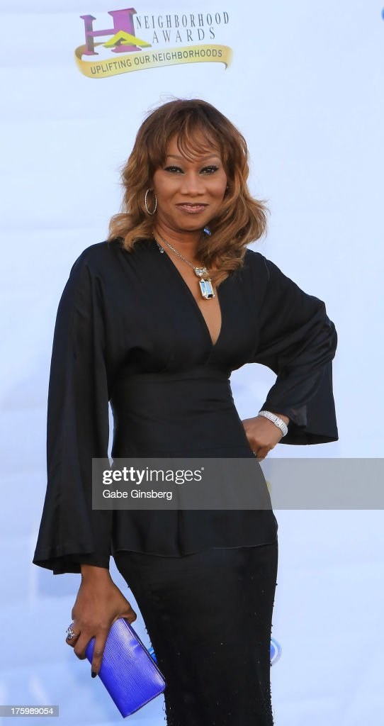 Gospel singer Yolanda Adams arrives at the 11th annual Ford Neighborhood Awards at the MGM Grand Garden Arena on August 10, 2013 in Las Vegas, Nevada.
