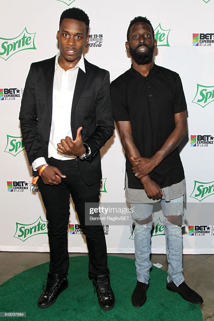 Gospel singers Tim Bowman Jr. (L) and <a gi-track='captionPersonalityLinkClicked' href=/galleries/search?phrase=Tye+Tribbett&family=editorial&specificpeople=2330862 ng-click='$event.stopPropagation()'>Tye Tribbett</a> attend the BETX stage during the 2016 BET Experience on June 26, 2016 in Los Angeles, California.