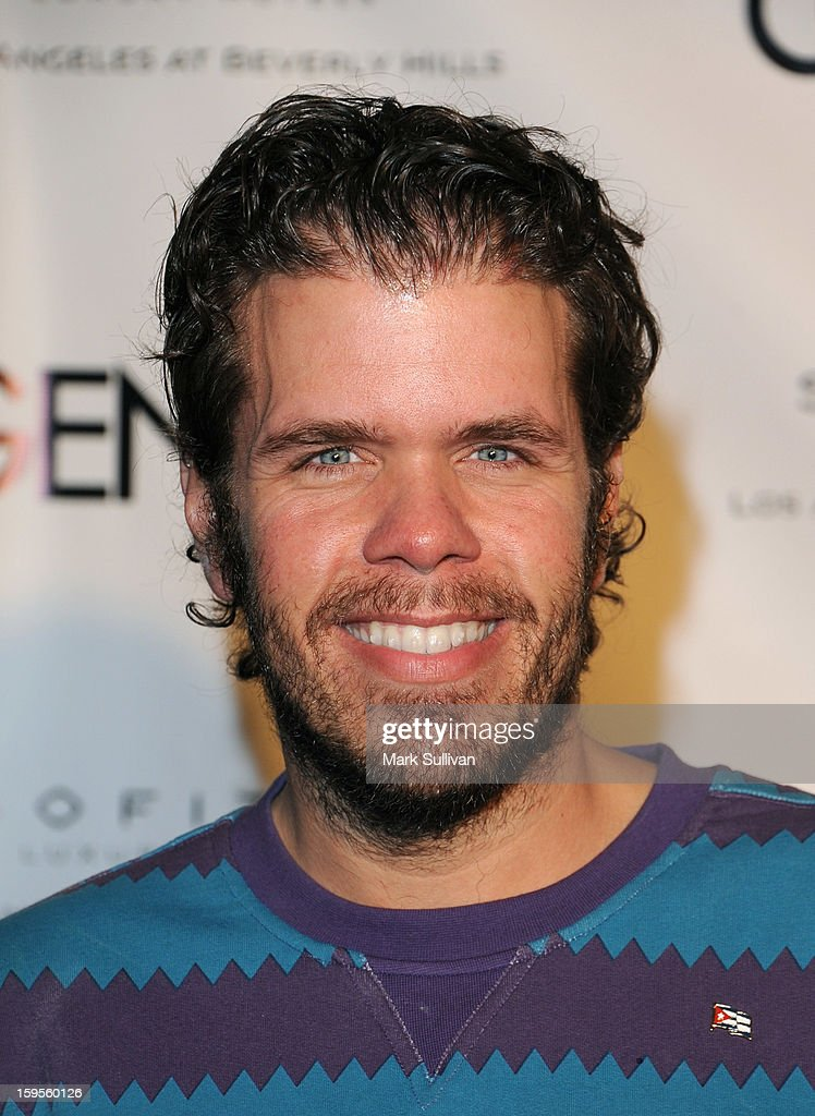 Gossip blogger Perez Hilton arrives for the opening of Riviera 31 At Sofitel Los Angeles on January 15, 2013 in Los Angeles, California.