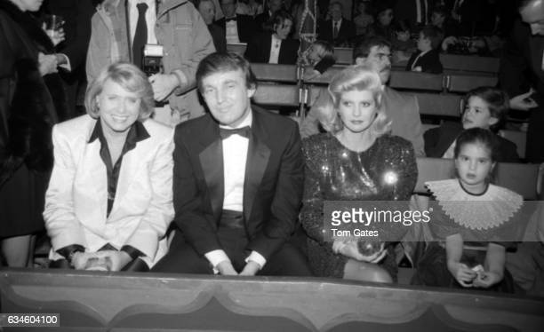 Gossip columnist Liz Smith businessman Donald Trump and his wife Ivana Trump and their daughter Ivanka Trump attend 1001 Nights at the Big Apple...
