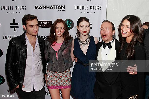 'Gossip Girls' actors Ed Westwick Leighton Meester Michelle Trachtenberg costume designer Eric Daman and actress Jessica Szhor attend the 'You Know...