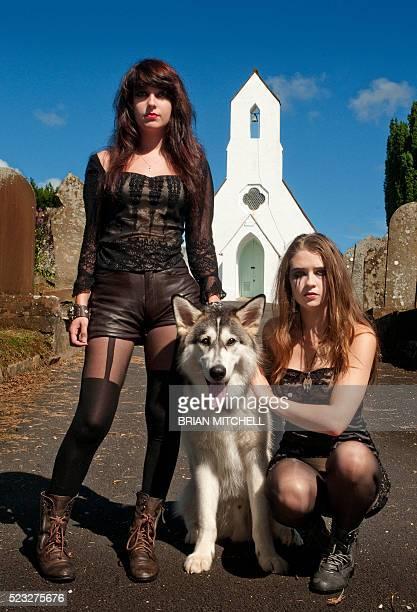 Goth Girls in Cemetery