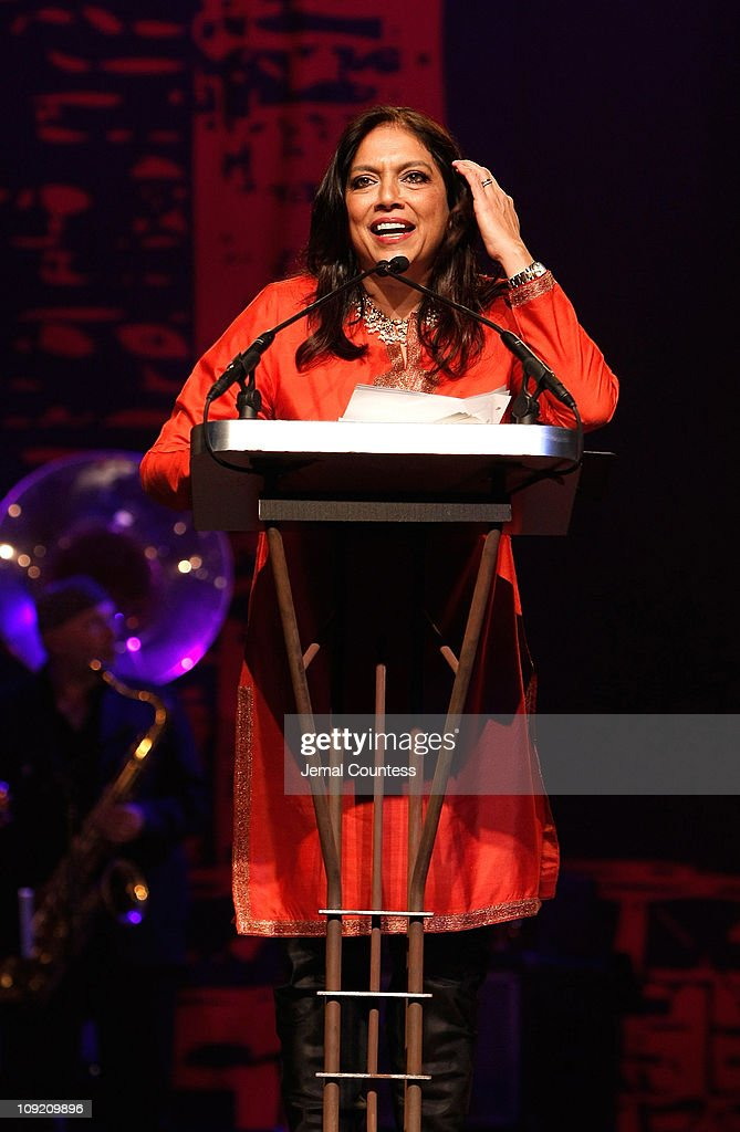 Gotham Tribute Honoree <a gi-track='captionPersonalityLinkClicked' href=/galleries/search?phrase=Mira+Nair&family=editorial&specificpeople=214181 ng-click='$event.stopPropagation()'>Mira Nair</a> onstage during the 17th Annual Gotham Awards presented by IFP at Steiner Studios on November 27, 2007 in Brooklyn, NY.