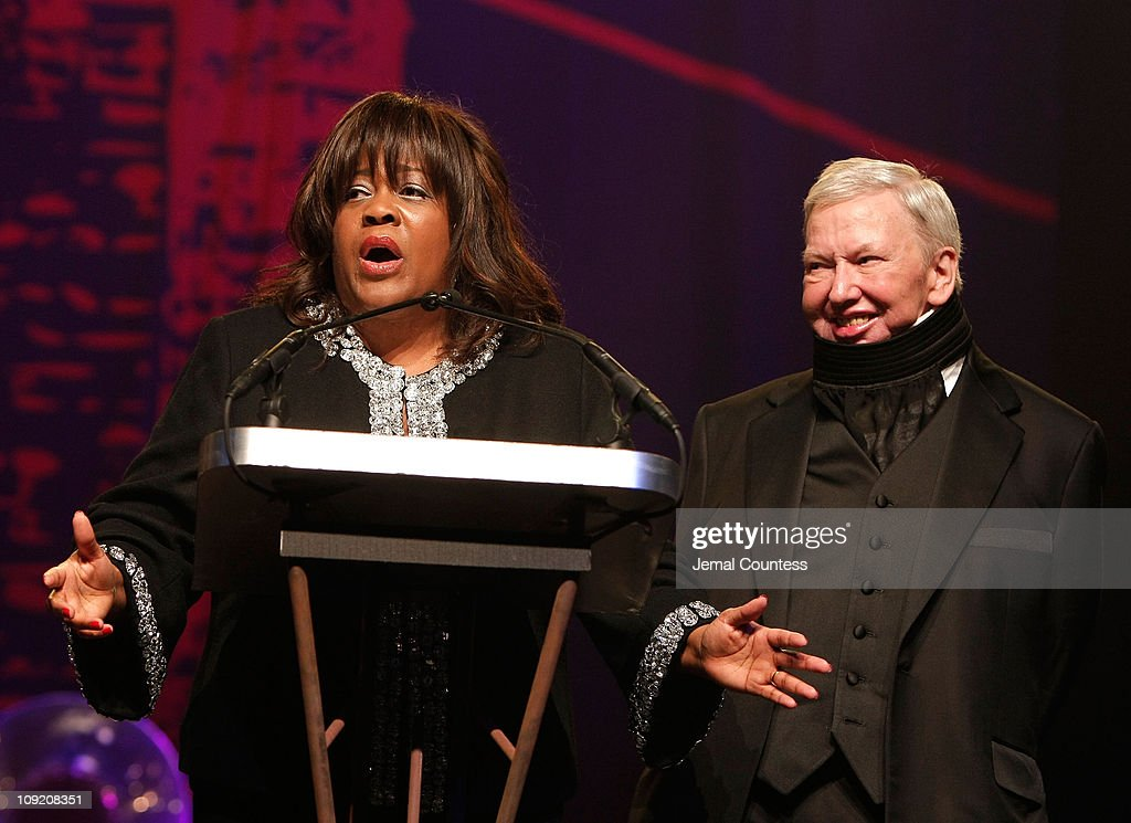 Gotham Tribute Honoree <a gi-track='captionPersonalityLinkClicked' href=/galleries/search?phrase=Roger+Ebert&family=editorial&specificpeople=208177 ng-click='$event.stopPropagation()'>Roger Ebert</a> (R) and Chaz Ebert onstage during the 17th Annual Gotham Awards presented by IFP at Steiner Studios on November 27, 2007 in Brooklyn, NY.