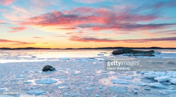 Gothenburg archipelago Ice floe sunset