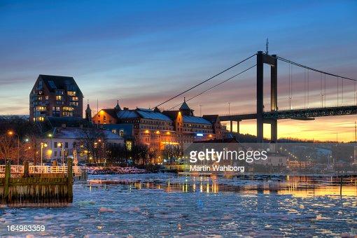 Gothenburg harbor in winter