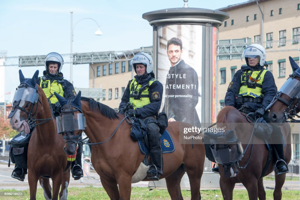 Gothenburg mounted a massive police operation to secure the city as members of the Nordic Resistance Front tried to march through the city center and antifascist groups mounted a massive counter protest on September 30, 2017. The Swedish nazi group Nordic Resistance Front planned to march through central Gothenburg on the day of the Jewish holiday Yom Kippur. The group was expecting 1000 participants, but only about 200-300 came. The march never materialized after Gothenburg Police froze the nazi group's movement after they tried to break their cordon and scuffled with police. Ca 20000 counter protesters circled around the site where the police held the members of the Nordic Resistance Front and scuffles ensued between police and a small number of members of the antifa movement who tried to break through the barricades. About 50 people where arrested, one policeman and a civilian were injured in the scuffles.