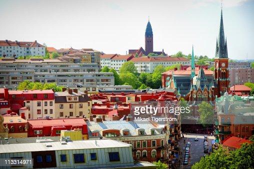 Gothenburg view over Linnestaden