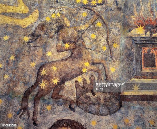 Gothic period Dome of the Zodiac by Fernando Gallego XV Century Wall paintings They decorate the library of the University of Salamanca Castile Spain...
