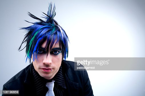 Gothic punk styled man posing for a portrait