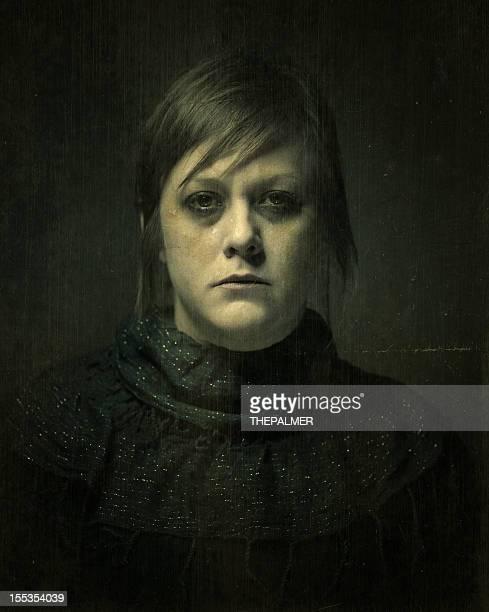 Gotische traurige Frau