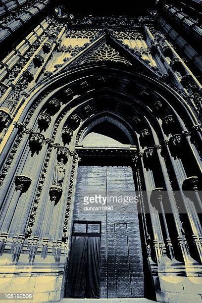 Gothic Style Cathedral Door in Daylight