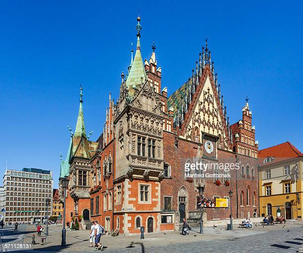 Gothic style Old Wroclaw Town Hall