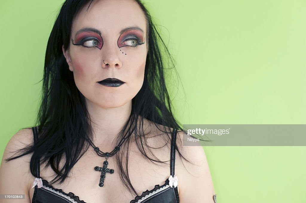Gothic Woman with Cross