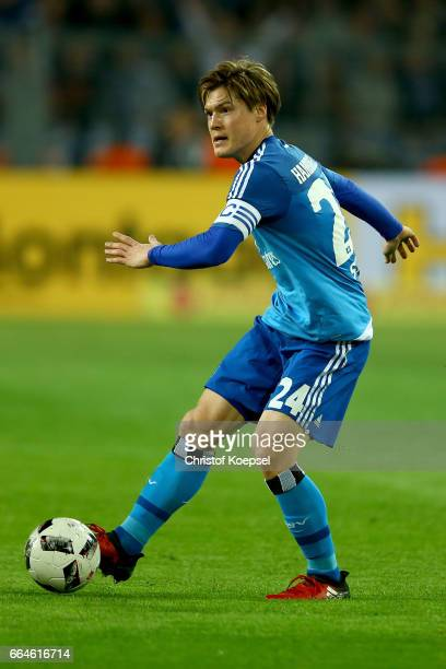 Gotoku Sakai of Hamburg runs with the ball during the Bundesliga match between Borussia Dortmund and Hamburger SV at Signal Iduna Park on April 4...