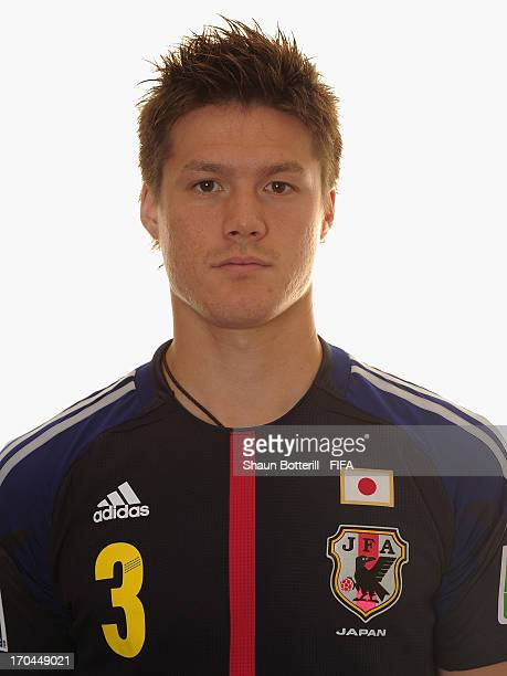 Gotoku Sakai of Japan poses for a portrait at the Kubistchek Plaza Hotel on June 13 2013 in Brasilia Brazil