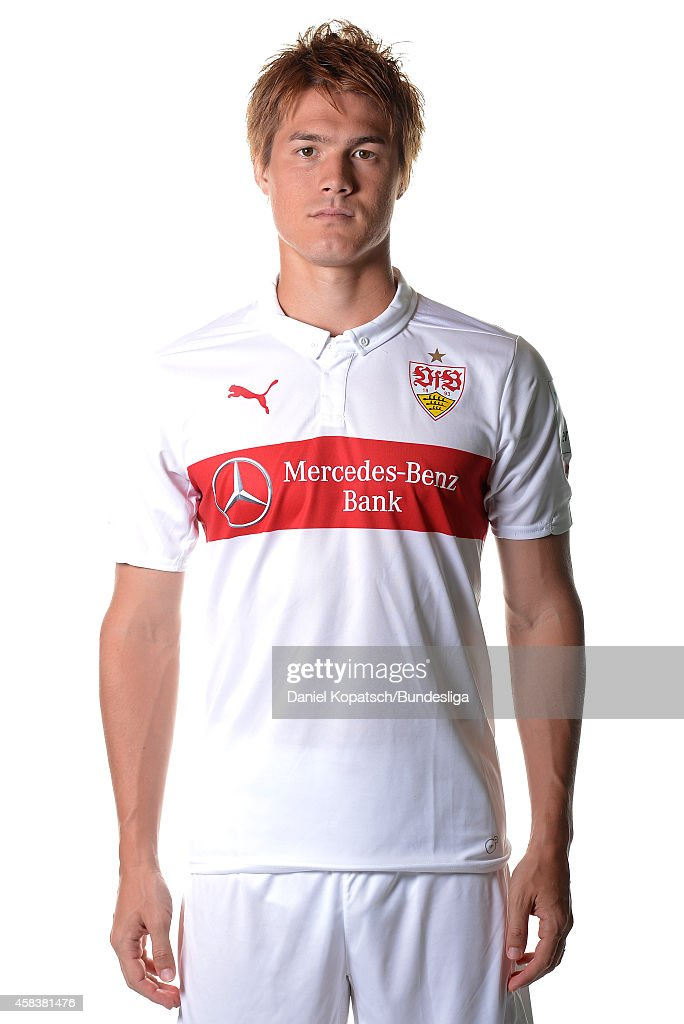 <a gi-track='captionPersonalityLinkClicked' href=/galleries/search?phrase=Gotoku+Sakai&family=editorial&specificpeople=7015160 ng-click='$event.stopPropagation()'>Gotoku Sakai</a> poses during the VfB Stuttgart Media Day on July 24, 2014 in Stuttgart, Germany.