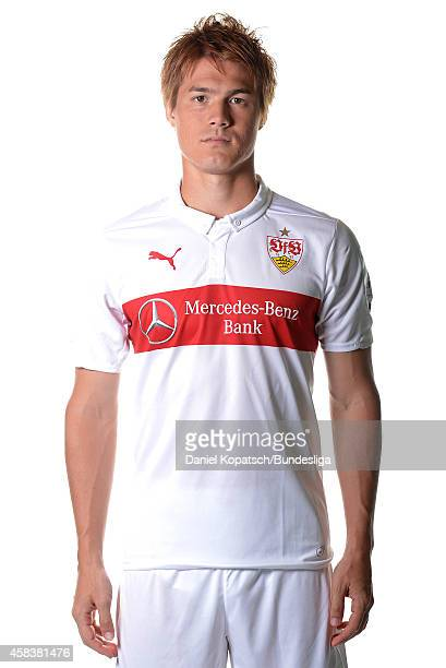 Gotoku Sakai poses during the VfB Stuttgart Media Day on July 24 2014 in Stuttgart Germany