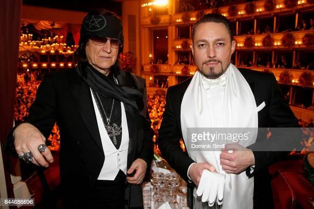 Gottfried Helnwein and Klemens Hallmann during the Opera Ball Vienna at Vienna State Opera on February 23 2017 in Vienna Austria