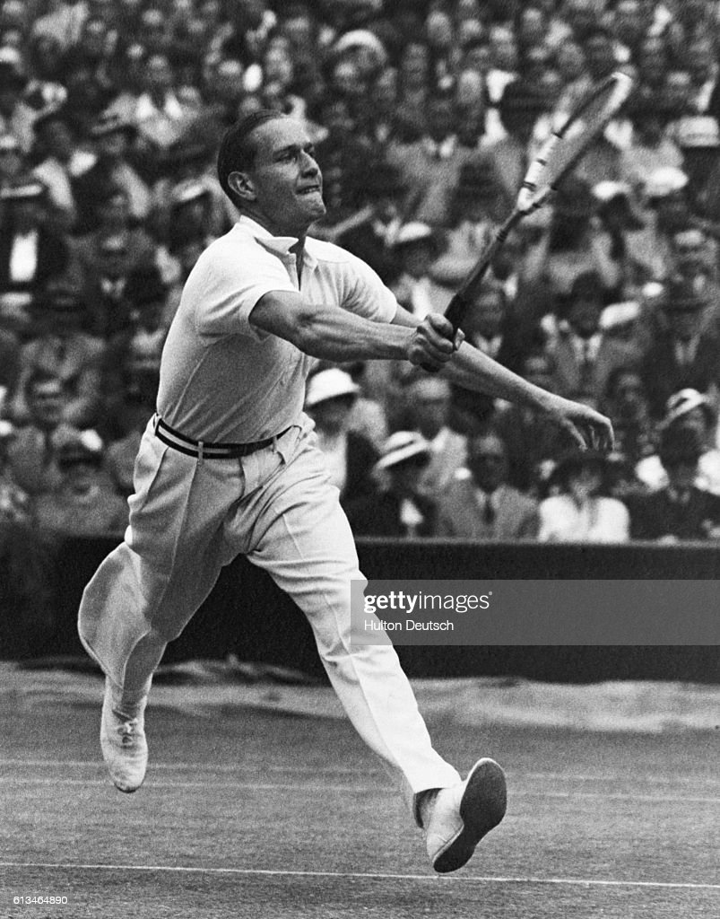 Gottfried von Cramm at Wimbledon in 1937