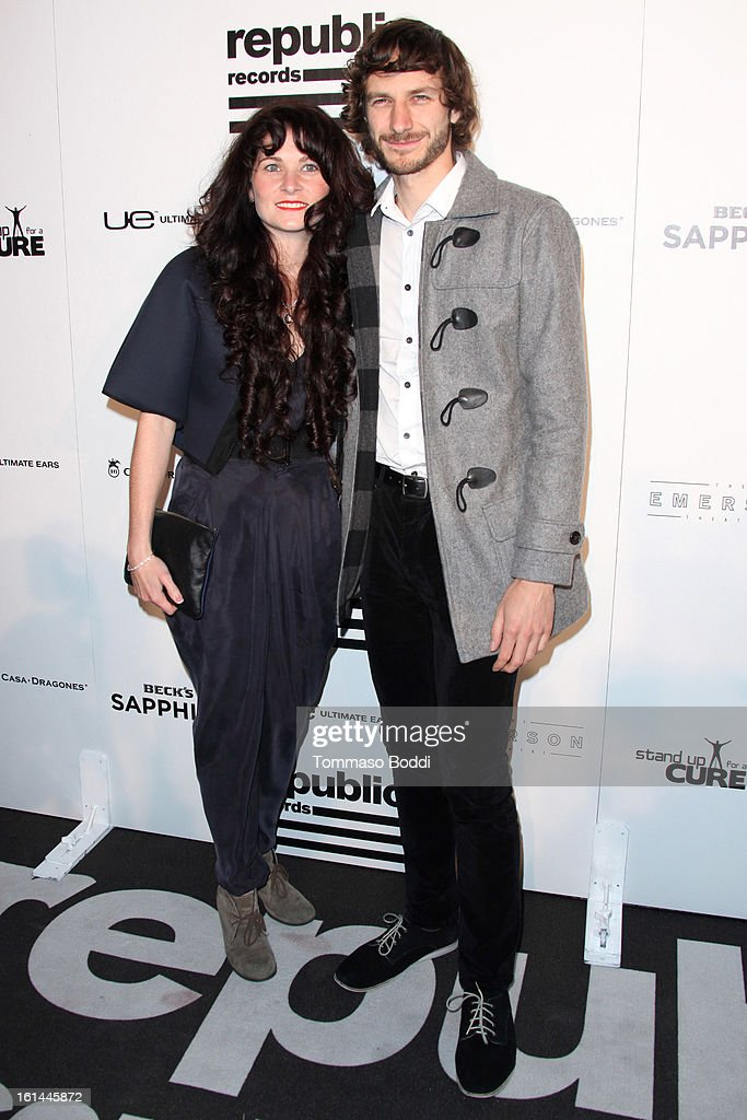 <a gi-track='captionPersonalityLinkClicked' href=/galleries/search?phrase=Gotye&family=editorial&specificpeople=4056440 ng-click='$event.stopPropagation()'>Gotye</a> (R) and guest attend the Republic Records post GRAMMY party held at The Emerson Theatre on February 10, 2013 in Hollywood, California.