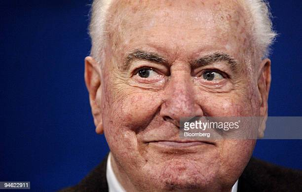 Gough Whitlam the 90yearold former prime minister of Australia attends a ceremony inducting him and his wife Margaret as the first lifetime members...