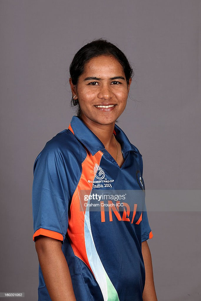 Gouher Sultana of India poses at a portrait session ahead of the ICC Womens World Cup 2013 at the Taj Mahal Palace Hotel on January 27, 2013 in Mumbai, India.