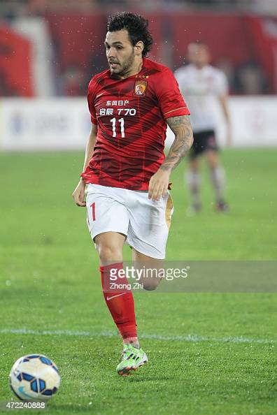 Goulart Pereira of Guangzhou Evergrande in action during the AFC Asian Champions League match between Guangzhou Guangzhou Evergrande and Western...