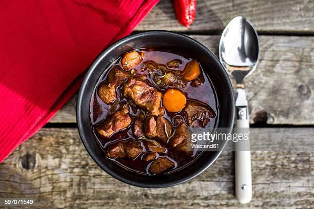 Goulash in bowl
