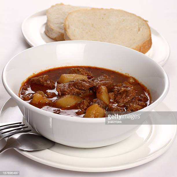 Goulash stew with bread