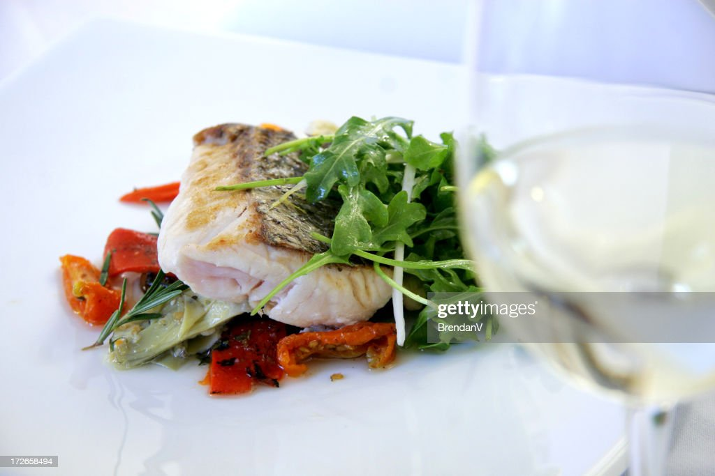 Gourmet Dinner or Lunch and Wine : Stock Photo
