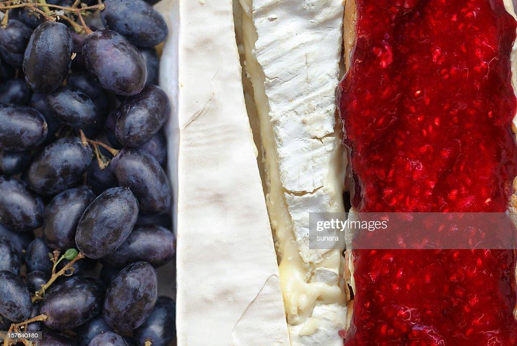 Gourmet-Französische Flagge : Stock-Foto