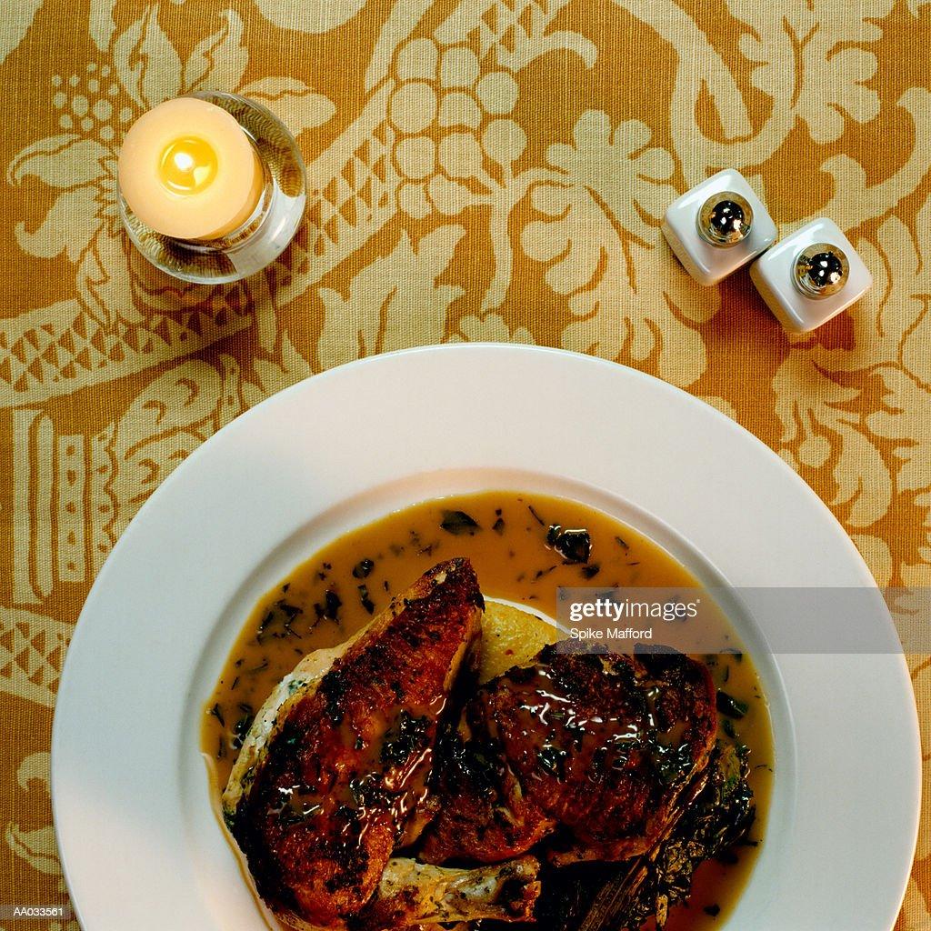 Gourmet Fowl in Sauce : Stock Photo