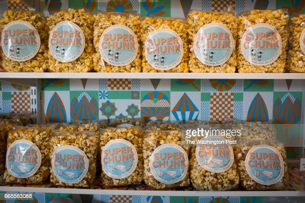SCOTTSDALE AZ MARCH 18 2017 Gourmet popcorn on sale at Super Chunk Sweets Treats on March 18 2017 in Scottsdale Az