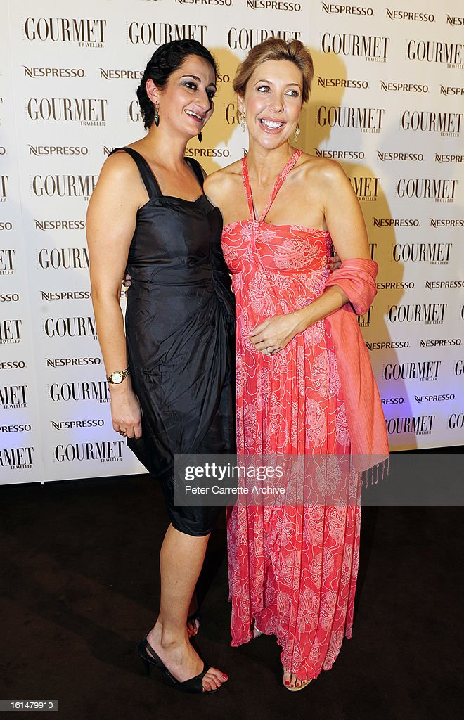 Gourmet Traveller editor Anthea Loucas and Catriona Rowntree arrive for the third annual Gourmet Traveller Travel Awards at the Sydney Opera House on May 27, 2009 in Sydney, Australia.
