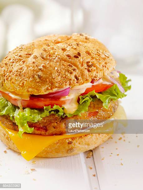 Gourmet Veggie Burger with Spicy Mayo
