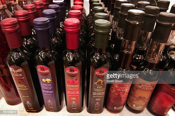 Gourmet vinegar and molasses is offered for sale at TaZe January 25 2007 in Chicago Illinois TaZe which bills itself as the first olive oil boutique...
