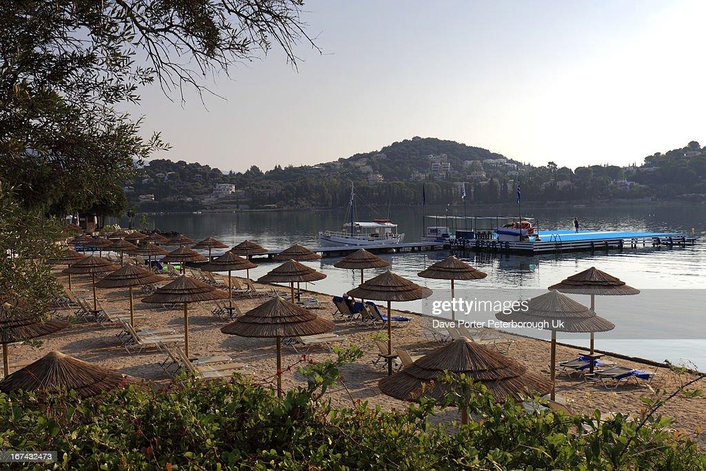 Gouvia beach resort, Corfu Island : Foto de stock