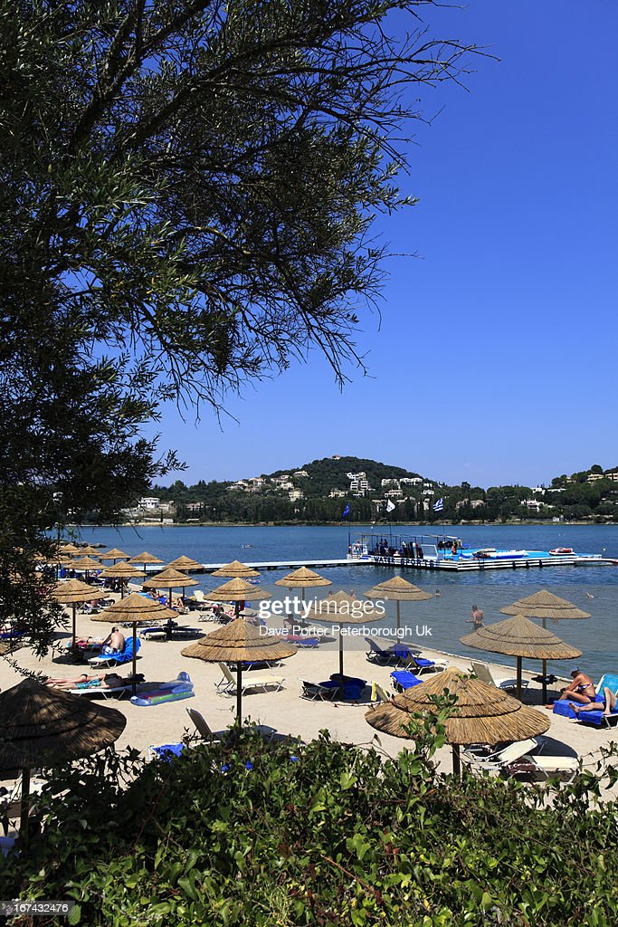 Gouvia beach resort, Corfu Island : Foto de stock