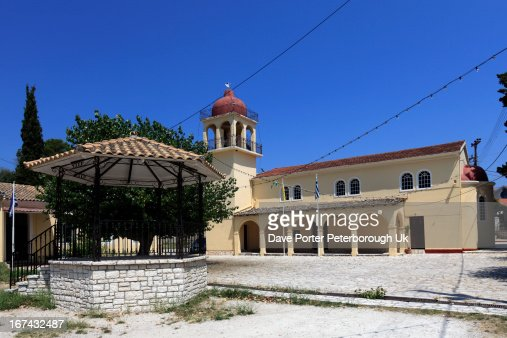 Gouvia Church, Gouvia resort, Corfu : Foto de stock