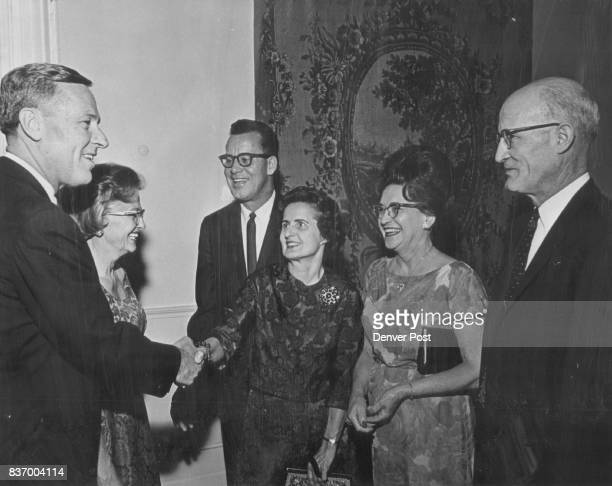 Gov and Mrs John Love at left were hosts at a social reception from 5 to 7 pm Monday at the Governor's Mansion to all 100 state legislators and their...