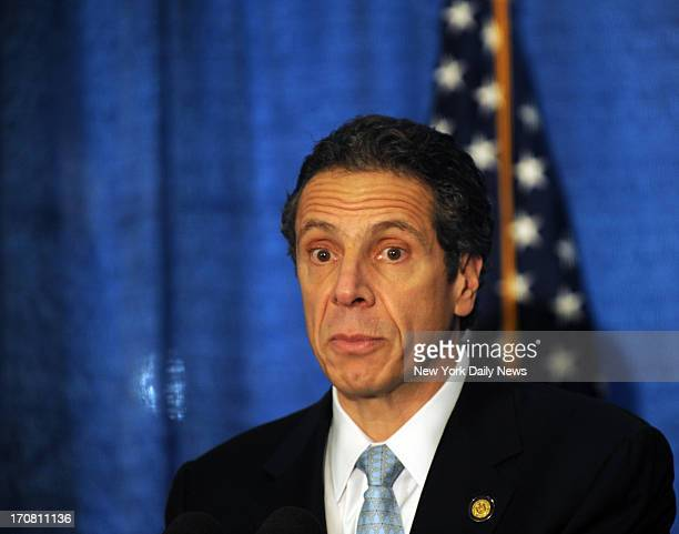 Gov Andrew Cuomo at NYU Langone Medical Center 550 1st Avewhich will receive 114 million in Federal money for repairs from Hurricane Sandy