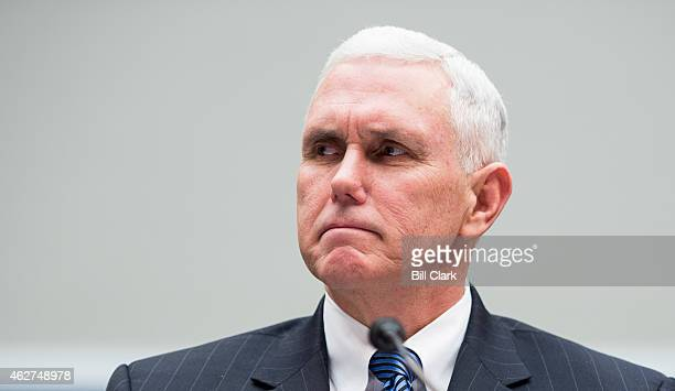 Gov Mike Pence RInd testifies during the House Education and the Workforce Committee hearing on 'State of American Schools and Workplaces Expanding...