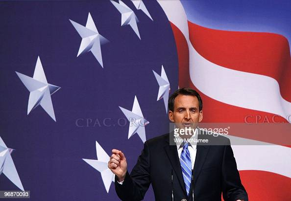 Gov Tim Pawlenty addresses supporters at the Conservative Political Action Conference annual meeting February 19 2010 in Washington DC Conservative...