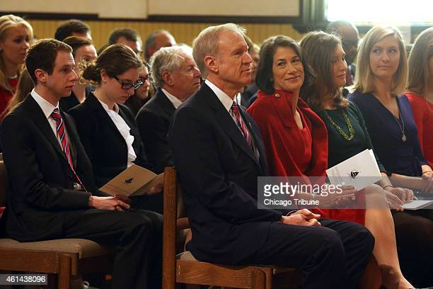 Govelect Bruce Rauner and his wife Diana attend an interfaith prayer service at First Presbyterian Church on Monday Jan 12 2015 in Springfield Ill...