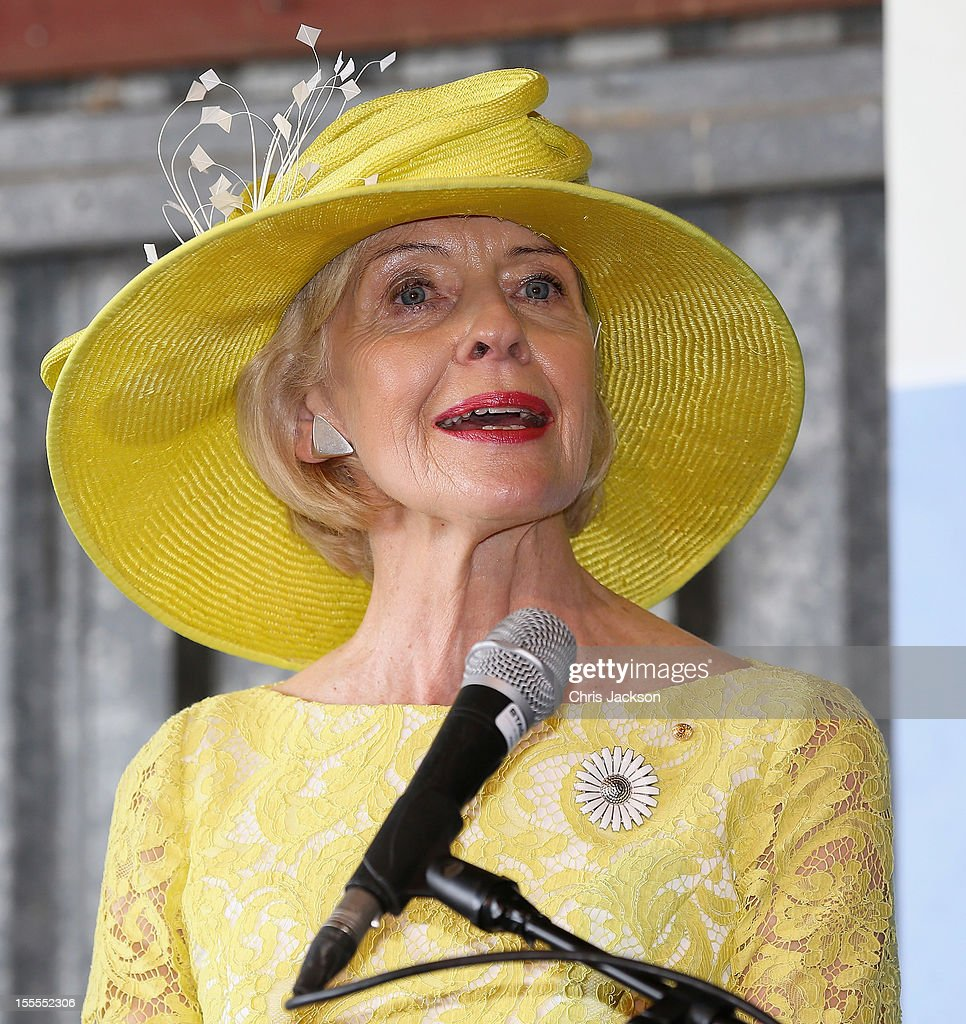 Govenor of Queensland Quentin Bryce gives a speech at the Royal Flying Doctor Service on November 5, 2012 in Longreach, Australia. The Royal couple are in Australia on the second leg of a Diamond Jubilee Tour taking in Papua New Guinea, Australia and New Zealand.